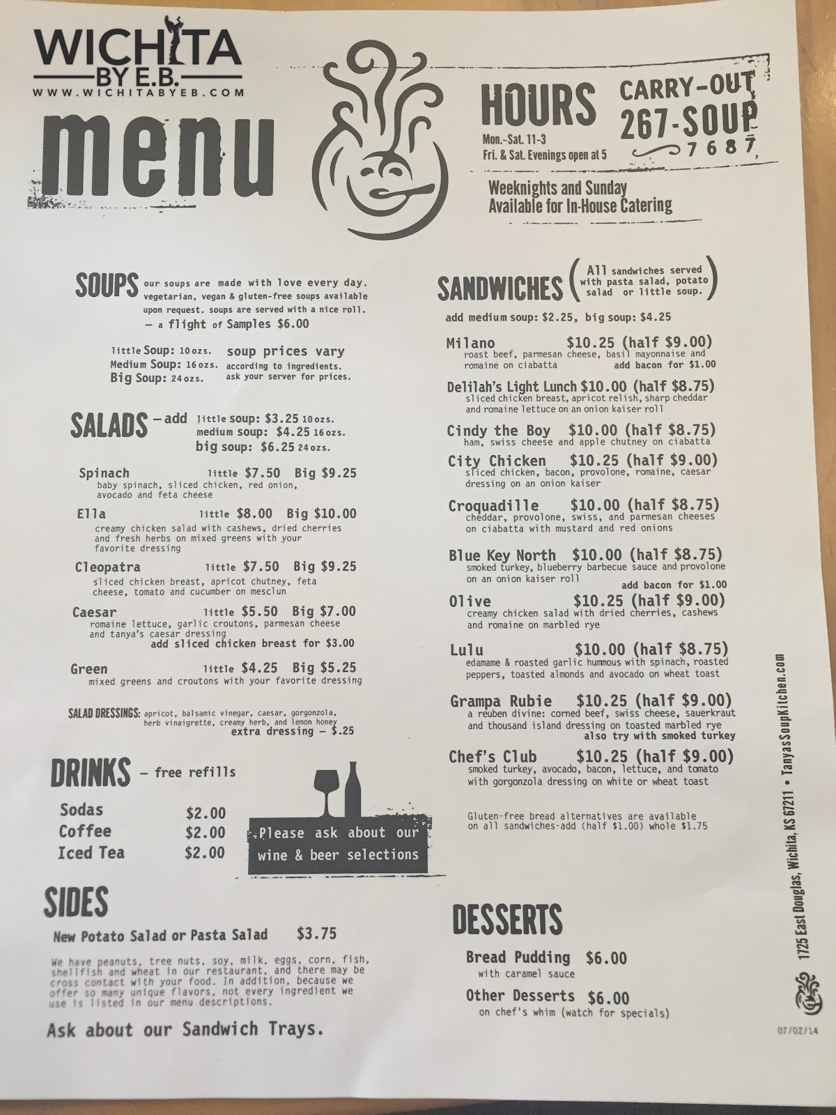 Soup Kitchen Menu Tanyas Soup Kitchen Review 2 Wichita By Eb
