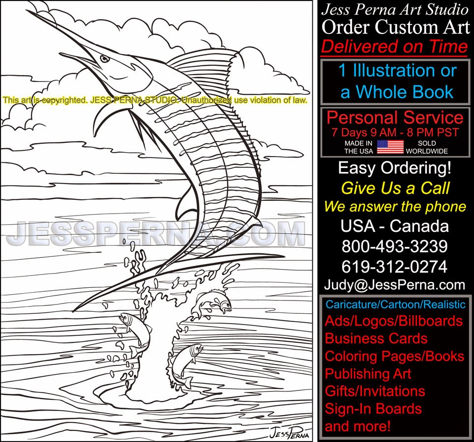 swordfish coloring pages swordfish jumping coloring