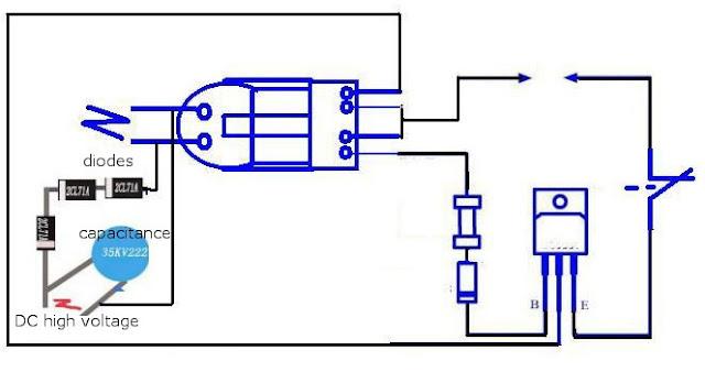 schéma générateur d'ions DIY