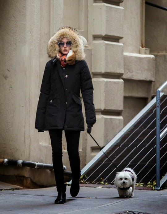 Olivia Palermo walking Mr Butler in NYC.