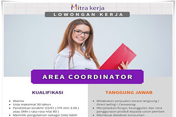 Lowongan Kerja Area Koordinator Mitra Kerja