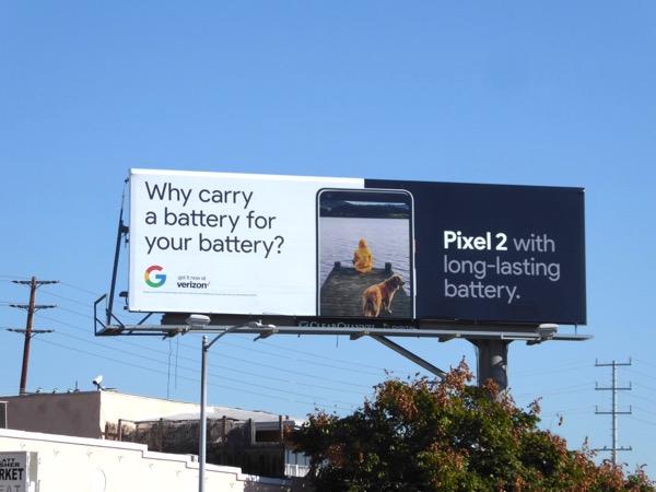 Pixel 2 long-lasting battery billboard