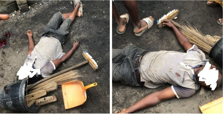 Tears As SARS Operatives Kill Innocent Cleaner During A Raid, This Morning, In Ilupeju, Lagos
