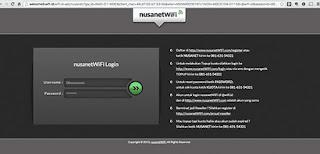 daftar nusanet Mendapatkan Username dan Password Wifi id trial 30 menit dan 90 hari