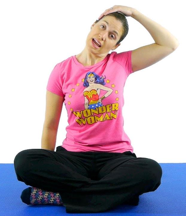 Slow Stretching Yoga Asana For Neck
