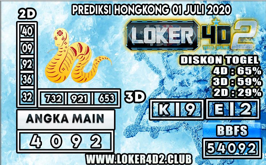 PREDIKSI TOGEL HONGKONG LOKER4D2 01 JULI 2020
