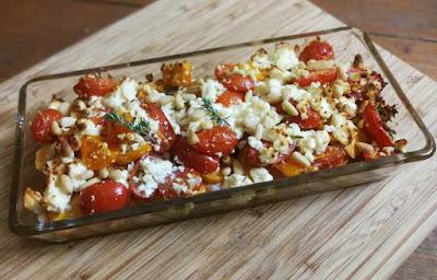 Süßkartoffel-Auflauf mit Tomaten und Feta