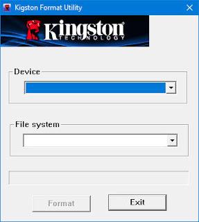 برنامج اصلاح الفلاشات كينج ستون مجانا Kingston