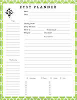 picture relating to Etsy Printables titled No cost Printable Etsy Planner anderson + grant