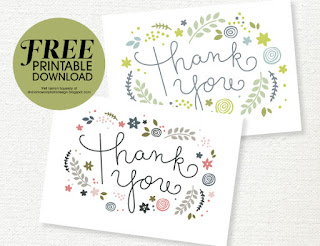 free thank you card download