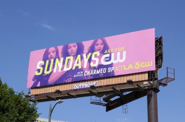 Sundays Charmed billboard