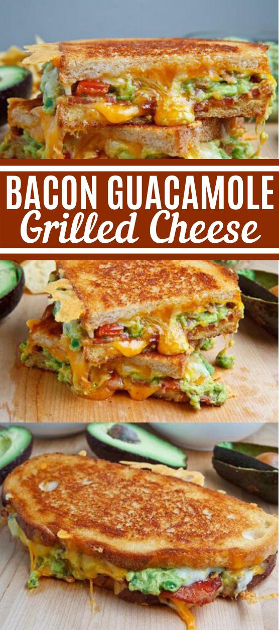 Bacon Guacamole Grilled Cheese Sandwich #lunch #breakfast #sandwich #easy #quick