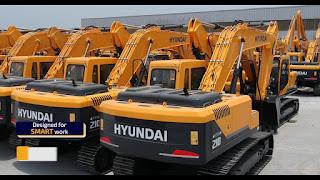 máy xúc Hyundai Hàn Quốc