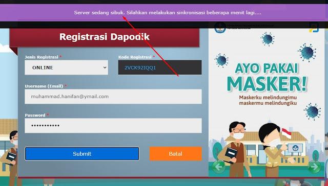 Cara Mengatasi Pengguna Tidak Aktif Atau Pengguna Belum Terdaftar Aplikasi Dapodik 2021 Terbaru