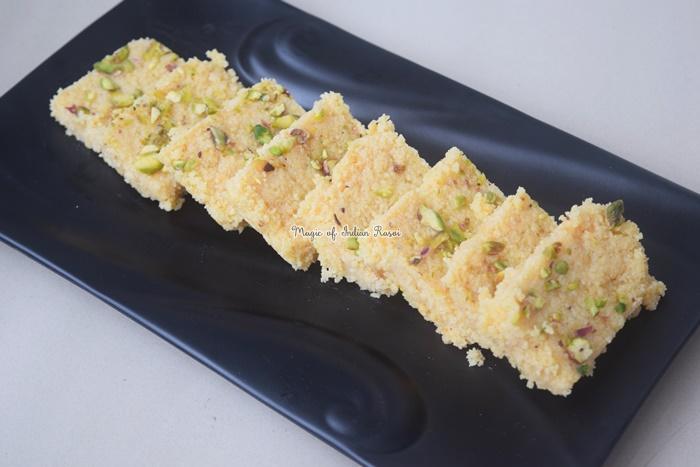 Milk Cake Mithai Recipe - मिल्क केक / कलाकंद मिठाई रेसिपी - Priya R - Magic of Indian Rasoi