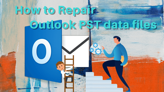 How do I repair a corrupt Outlook PST file?