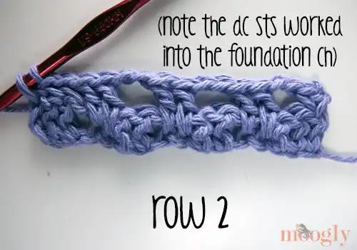 Punto tupido «rayas que saltan» a crochet