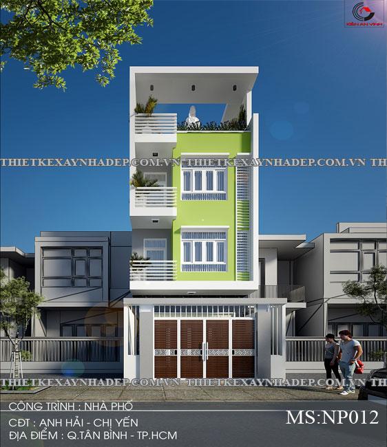 Mẫu thiết kế nhà ống 2 tầng diện tích 4x14 ở quê gia đình chị Lan Thiet-ke-nha-pho-2-tang-dep