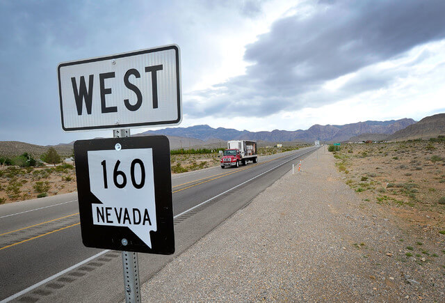 160, between, Canyon, closed, Pahrump, Red Rock, State Route,