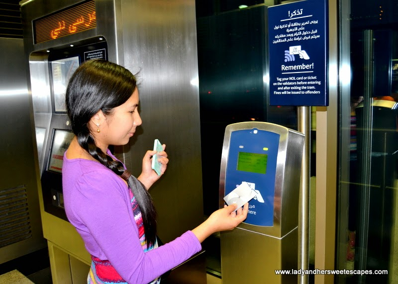 NOL card validation system at Dubai Tram stations