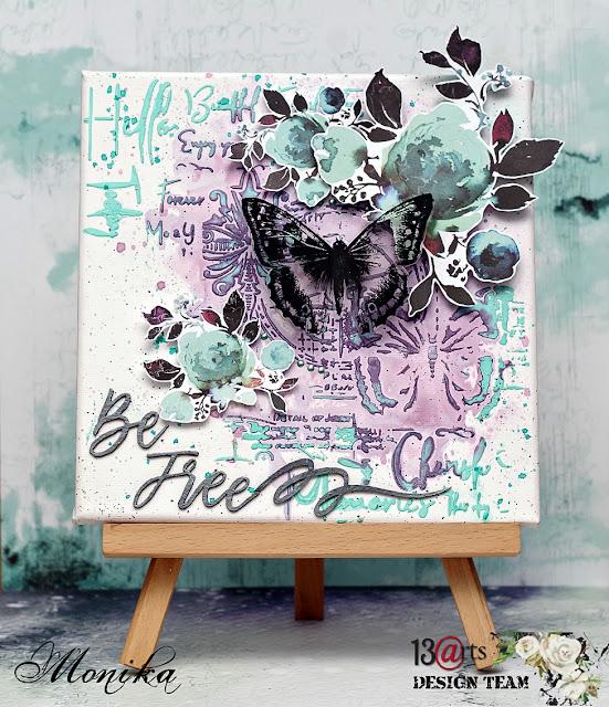 "Blejtram ""Ogród motyla""/ Canvas ""Butterfly Garden"""