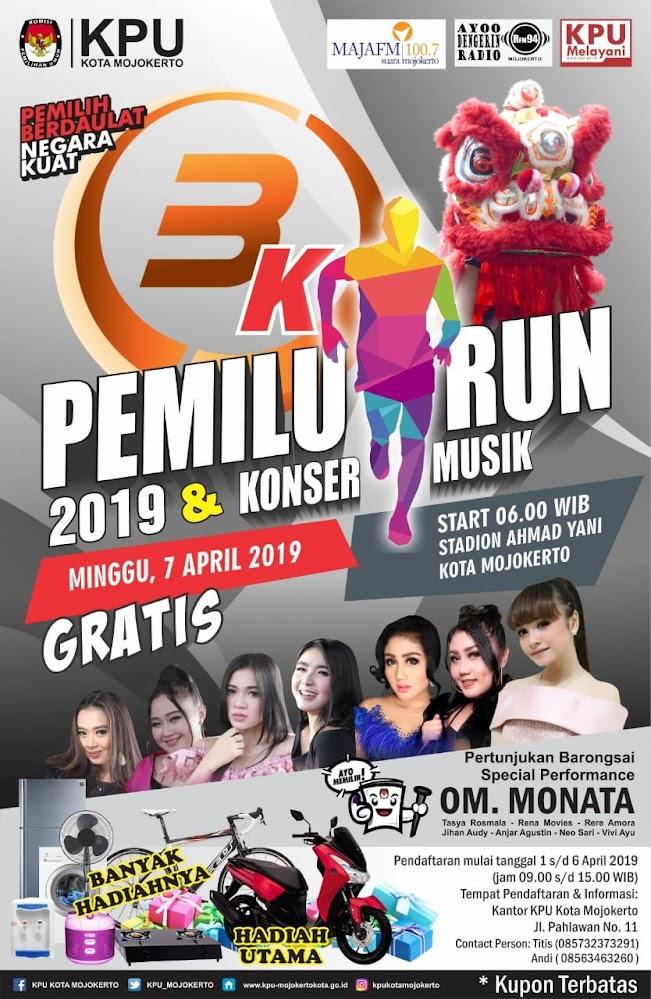 Pemilu Run - Kota Mojokerto • 2019