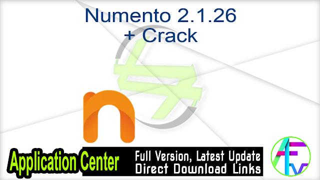 Numento 2.1.26 + Crack