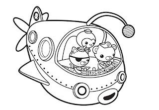 דפי צביעה אוקטונאוטים
