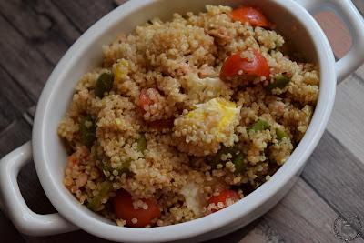 Insalata di quinoa, senza glutine e senza lattosio