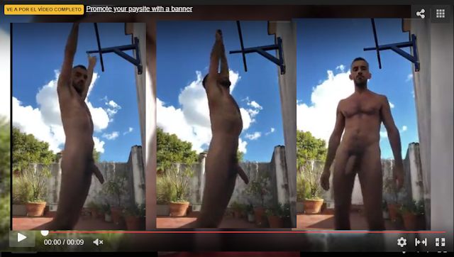 el vecino haciendo ejercicio desnudo