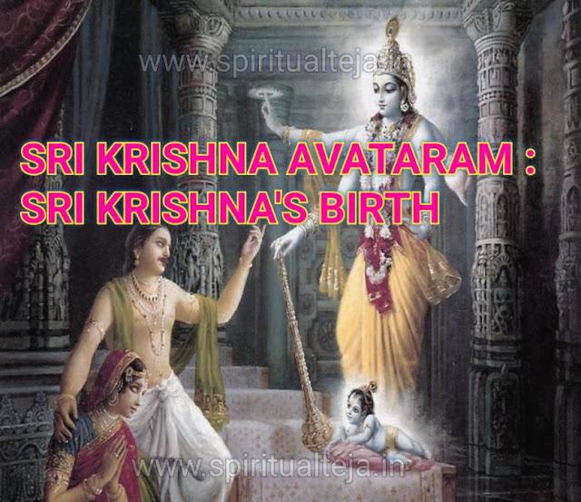 Sri Krishna birth, Vishnu maha puranam, yashoda, devaki, devaka, yadu, madhura,  bhoodevi, spiritual Teja,