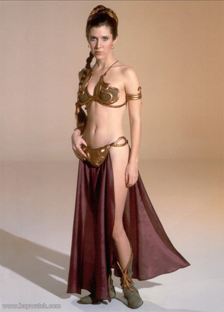 young princess leia slave bikini long pose