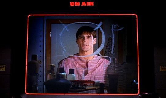 The Truman Show gets broadcasted on TV, Directed by Peter Weir