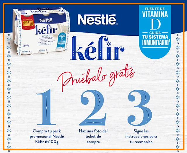 Prueba gratis el kéfir de Nestlé