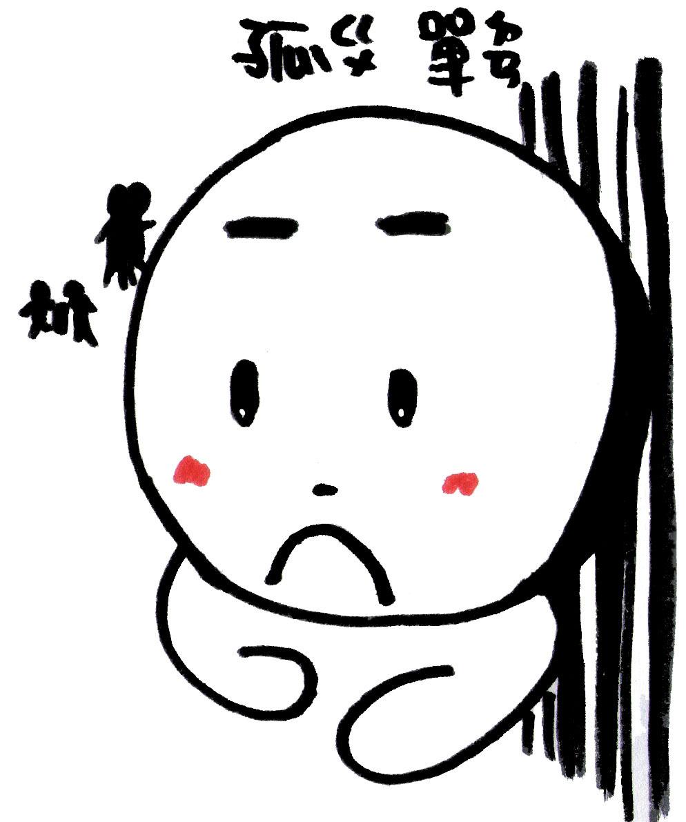 赤豬圈: 表情特徵 -- 孤單