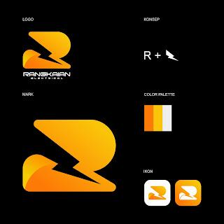 Desain Logo Perusahaan Rangkaian Elektrical