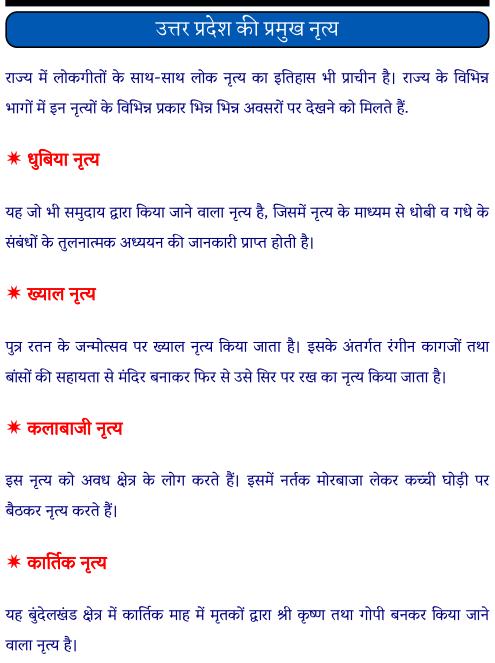 उत्तर प्रदेश के प्रमुख नृत्य पीडीऍफ़ पुस्तक | Uttar Pradesh Ke Pramukh Lok Nritya PDF Book In Hindi