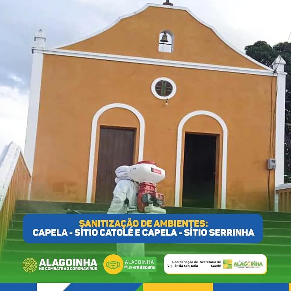 COMBATE A PANDEMIA! Prefeitura sanitiza capelas na zona rural de Alagoinha