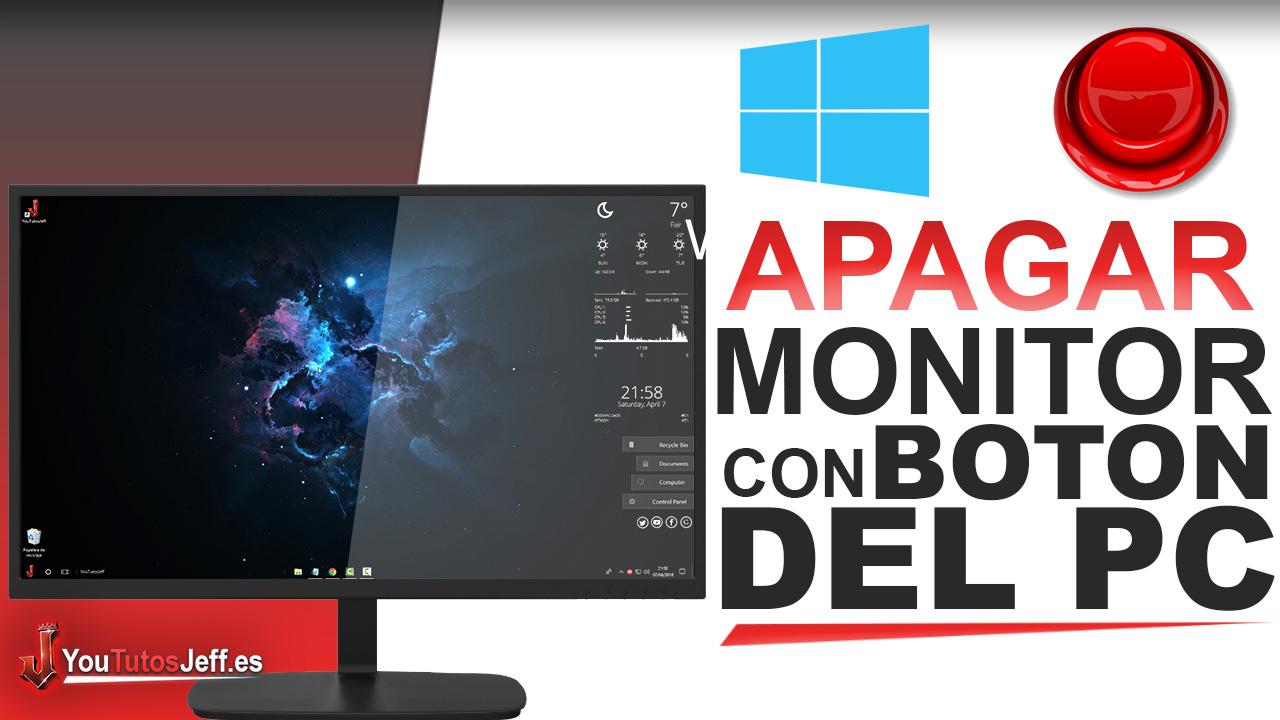 Como Apagar el Monitor con el boton del Ordenador en Windows 10 - Facil y Rapido