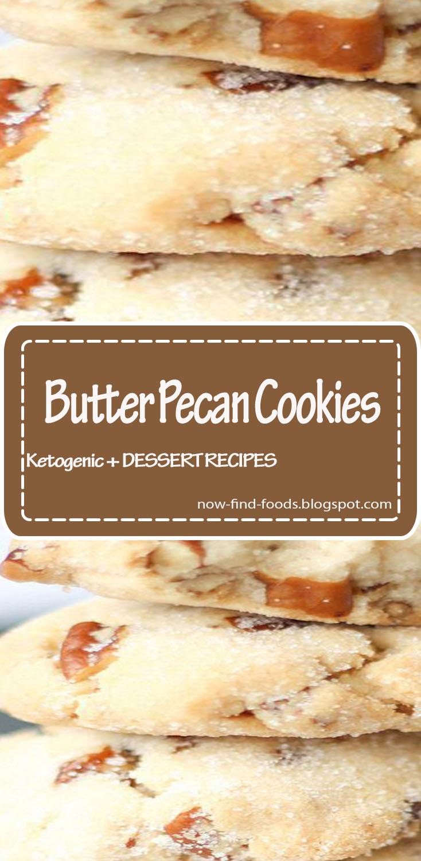 Butter Pecan Cookies #dessert #butter #cookies