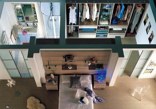 construindo minha casa clean 20 quartos com closet veja dicas e ideias. Black Bedroom Furniture Sets. Home Design Ideas
