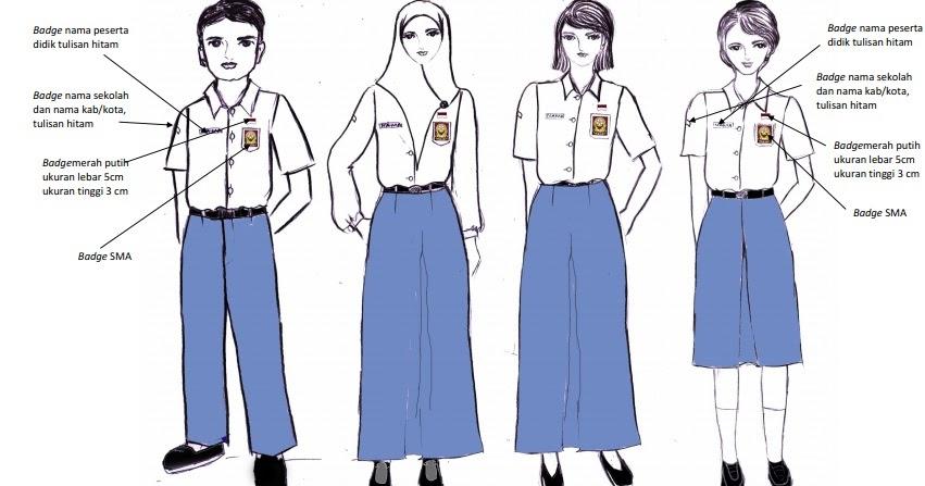 Model Terkini 15 Gambar Kartun Memakai Baju Seragam Sma