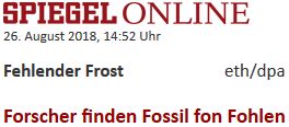 Forscher finden Fossil fon Fohlen