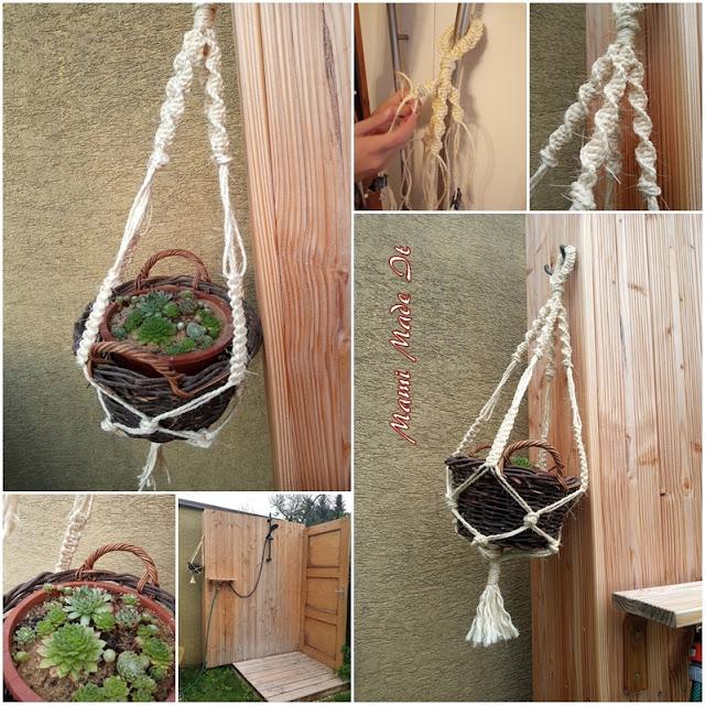 Makramee Blumenampel - Macrame hanging basket