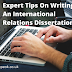 Expert Tips On Writing An International Relations Dissertation