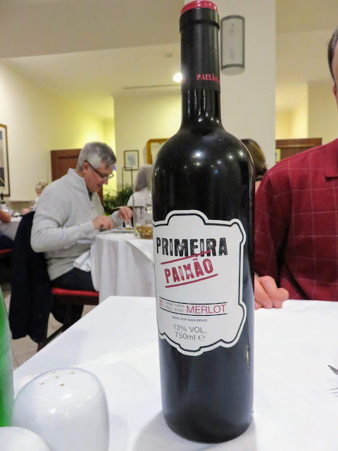 Bottle of wine served in Funchal Madeira