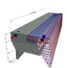 Ilustrasi Tiga Dimensi Modul Breakwater Apung
