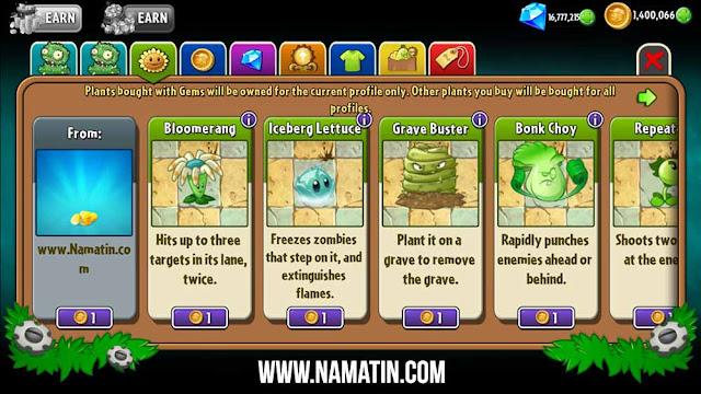 plant vs zombie 2 mod apk