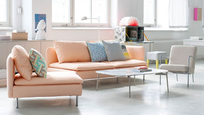 Living room decoration idea with pastel colors