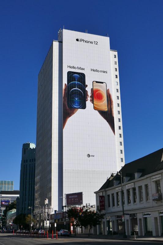 Giant iPhone 12 Hello Max mini billboard